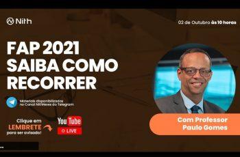 LIVE FAP 21 – PROF. PAULO GOMES
